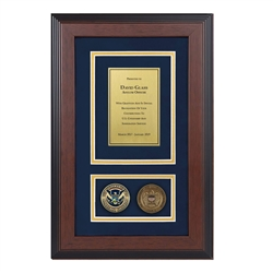 Recognition Shadow Box w/ Coins (USCIS)