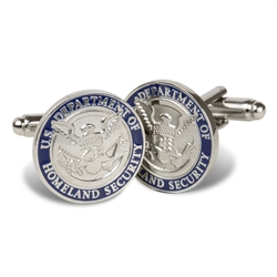 DHS Silver Plated Cufflinks