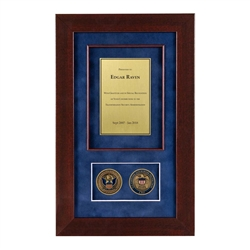 Recognition Shadow Box (Cherry) w/ Coins (CBP)