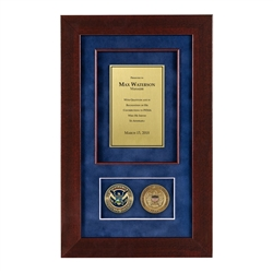 Recognition Shadow Box (Cherry) w/ Coins (FEMA)