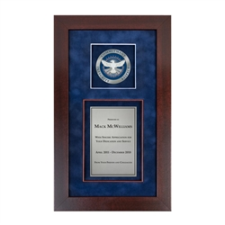 Recognition Shadow Box (Cherry) w/ Medallion (TSA)