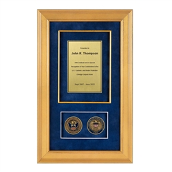 Recognition Shadow Box (Gold) w/ Coins (CBP)