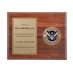 Medallion Plaque Award (DHS)