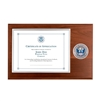 certificate plaque w/ medallion CBP