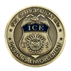 ICE Badge Challenge Coin - Brass