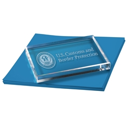 CBP Rectangle Paperweight