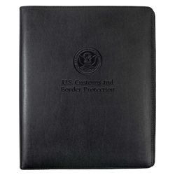 CBP Leather 3-Ring Binder (Black)