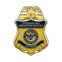 DHS/CIS Officer Badge Lapel Pin
