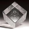 3-D Crystal Cube (ICE Special Agent)