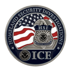 ICE/HSI Challenge Coin - Nickel/Silver