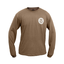 Mocha Brown Long Sleeve T-Shirt (DHS)