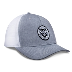 DHS Patch Trucker Hat (Heather Grey/White)