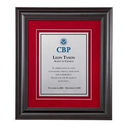 Shadow Box Plaque - Black (CBP)