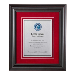 Shadow Box Plaque - Black (CISA)