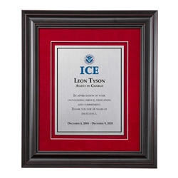 Shadow Box Plaque - Black (ICE)