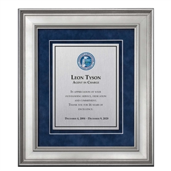 Shadow Box Plaque - Silver (CISA)