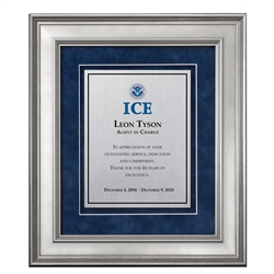 Shadow Box Plaque - Silver (ICE)