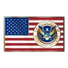 American Flag with DHS Seal Lapel Pin