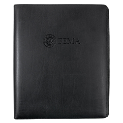 FEMA Leather 3-Ring Binder (Black)