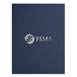 FEMA Two-Pocket Linen Folder