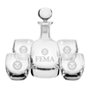 FEMA 5 pc. Decanter Gift Set