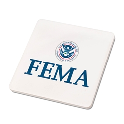 FEMA Custom Stone Coaster