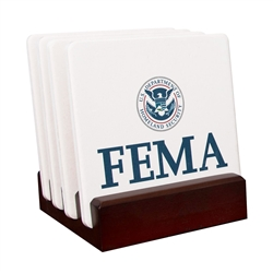 FEMA Custom Stone Coaster Gift Set