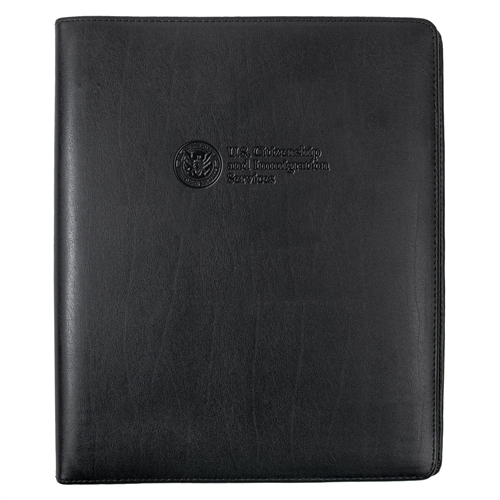 USCIS Leather 3-Ring Binder (Black)