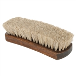 Executive Large Shoe Shine Brush - Neutral Horsehair Bristles