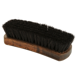 Executive Medium Shoe Shine Brush - Black Horsehair Bristles