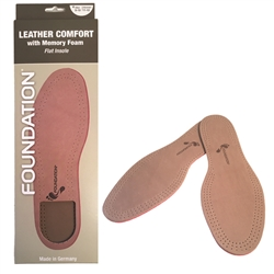 Foundation Leather Memory Foam Flat Insole