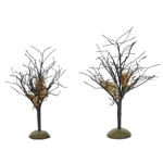Department 56 Halloween Midnight Moss Trees