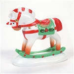 Department 56 Candy Cane Rocking Horse