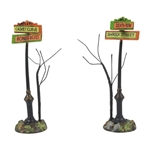 Department 56 Halloween Creepy Village Street Signs