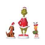 Department 56 Grinch Village Grinch, Max & Cindy-Lou Who