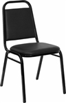 discount black vinyl banquet chair