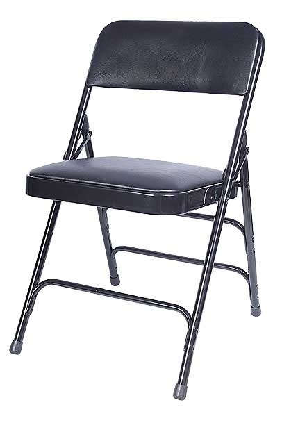 Sensational Black Vinyl Metal Folding Chair Ocoug Best Dining Table And Chair Ideas Images Ocougorg