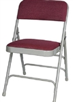 Burgundy Fabric Metal Folding Chair Louisiana