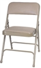 Free Shipping Beige Vinyl Metal Discount Chairs