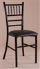 Wholesale Price for Black Chiavari Metal Chair w Free Cushion