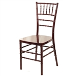 Mahogany  Chiavari chairs, Resin Chivari Chair, Resin Ballroom Chairs
