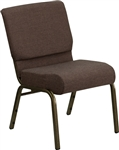 "Brown 21"" Church Chair"