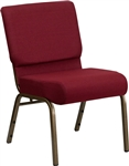 "Burgundy Chapel 21"" Wide Chair"