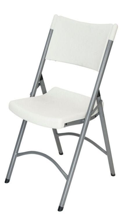 Whole White Molded Comfort Folding Chair