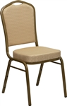 BEIGE SOLID FABRIC BANQUET CHAIR