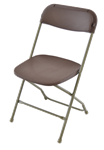 Free Shipping Cheap Prices  Brown   Plastic Folding Chair