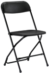 Free Shipping Cheap Prices Black  Plastic Folding Chair