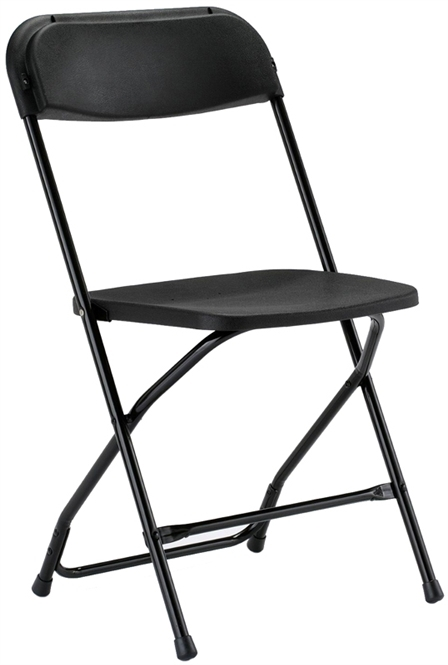 Stacking Chair Cart  sc 1 st  Folding Chairs and Folding Tables & Black Free Shipping Illinois Plastic Folding Chair - New York City ...