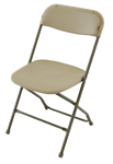 Beige Free Shipping Cheap Prices White Plastic Folding Chair