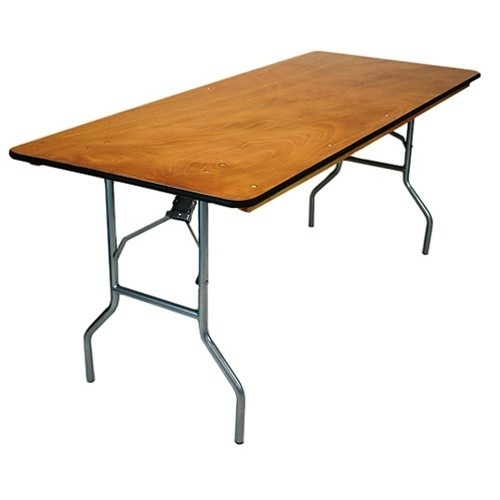 30 x 96 Plywood Folding Table, Miami  Banquet Cheap Wholesale Tables, Lowest prices wood Florida